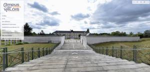 Screenshot visite Campus des Valois